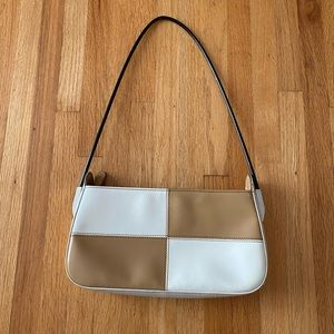 Brown and White Coloured Purse